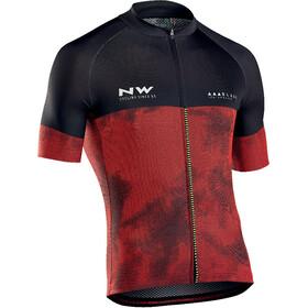 Northwave Blade 3 Fietsshirt korte mouwen Heren rood/zwart